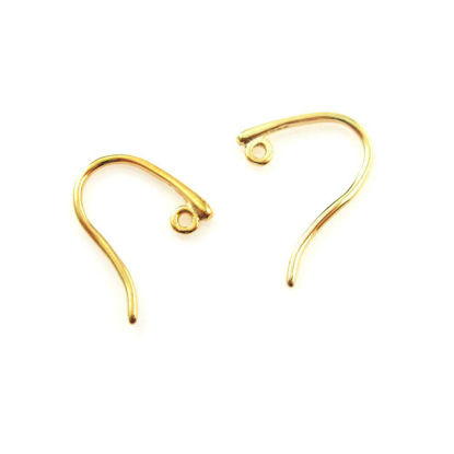 Wholesale Gold plated Sterling Silver Sleek Sexy Fishhooks for Jewelry Making, Wholesale Earwire and Findings