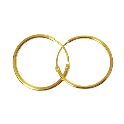 Wholesale Gold Over Sterling Silver Earring Hoops - 20mm (Sold per pair)