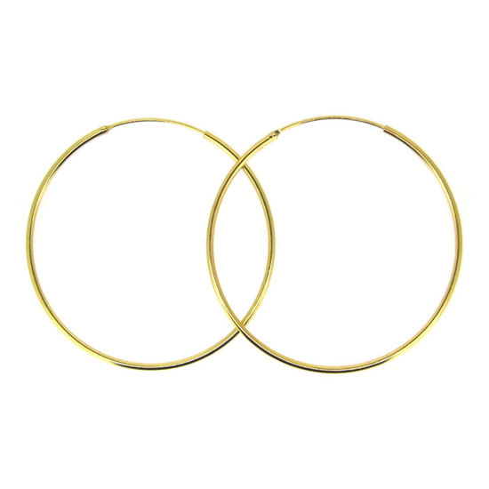 Wholesale Gold Plated Sterling Silver 50mm Earring Hoops (Sold per pair)