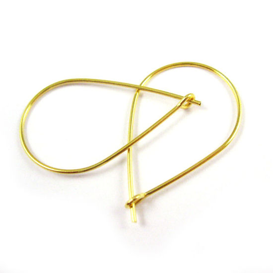 Wholesale Gold plated Sterling Silver Large Teardrop Hoops for Jewelry Making, Wholesale Earwire and Findings