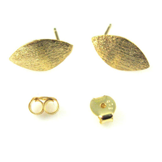 Wholesale Gold plated Sterling Silver Textured Marquis Earwire for Jewelry Making, Wholesale Earwire and Findings