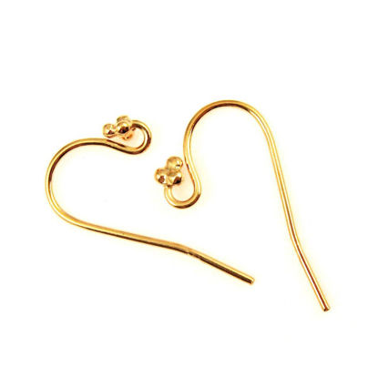 Wholesale Gold Plated Sterling Silver Fancy Fishhook Flower Ball Tip for Jewelry Making, Wholesale Earwire and Findings
