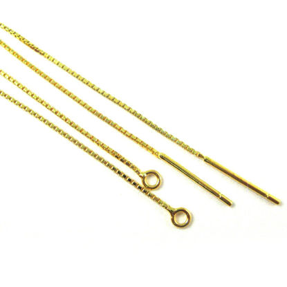 Wholesale Gold plated Sterling Silver Vermeil Threading Earwire  for Jewelry Making, Wholesale Earwire and Findings