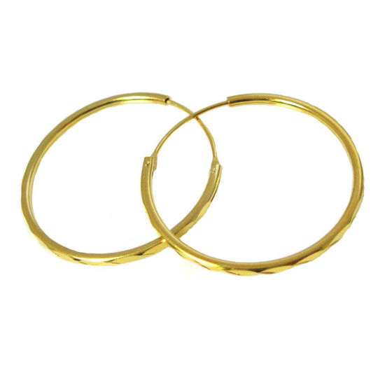 Wholesale Gold plated Sterling Silver Stromng Textured Hoops for Jewelry Making, Wholesale Earwire and Findings