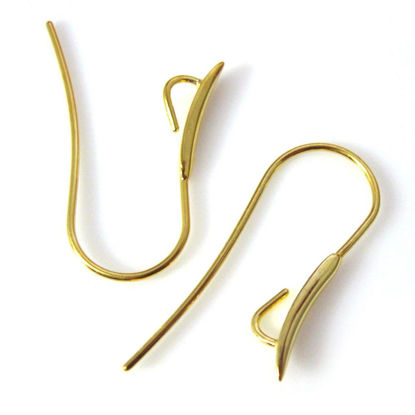Wholesale Gold Over Sterling Silver Fancy Earring Wire Hooks for Crystals (Sold per pair)