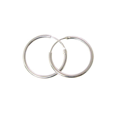 Wholesale Sterling Silver 20mm Earring Hoops (Sold per pair)