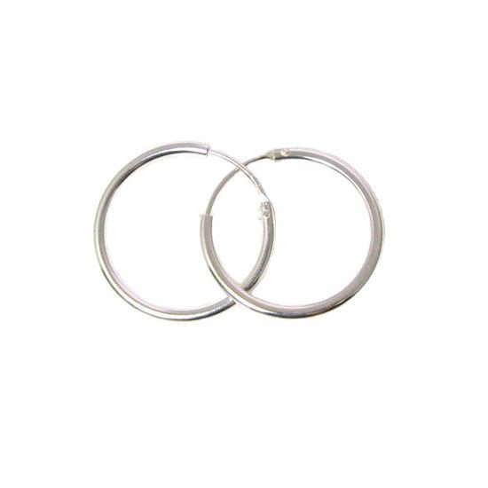 Wholesale Sterling Silver 20mm Earring Hoops (Sold per pair)