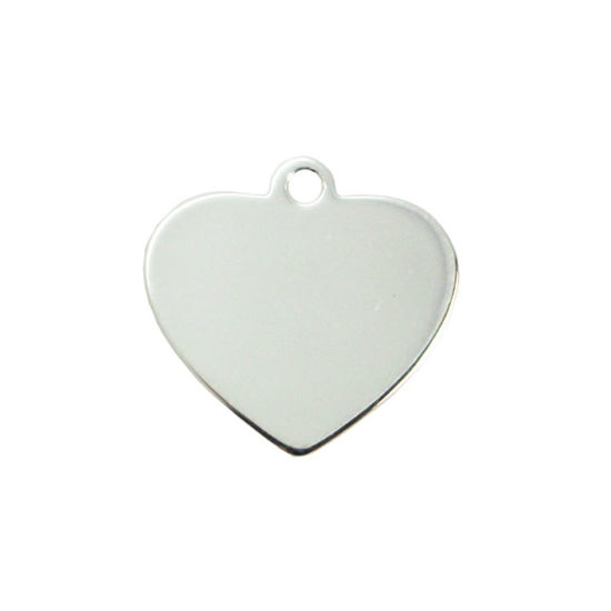 Wholesale Sterling Silver Heart Charm Stamping Blank - 12mm