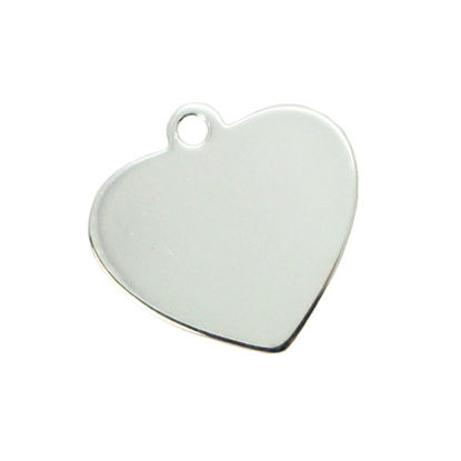 Wholesale Sterling Silver Heart Charm Stamping Blank - 19x20mm