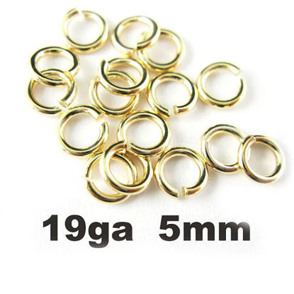 Wholesale Gold plated Sterling Silver 19 Gauge 5mm Open Jumprings for Jewelry Making, Wholesale Findings