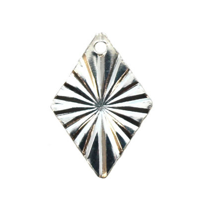 Wholesale Sterling Silver Textured Diamond Charm, Charms and Pendants for Jewelry Making, Wholesale Findings