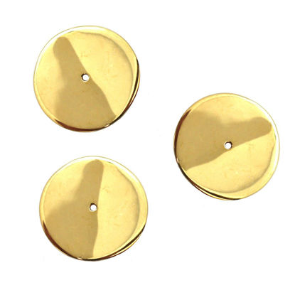 Wholesale Gold Plated Sterling Silver Large Smooth Wavvy Disc Charms and Pendants for Jewelry Making, Wholesale Findings