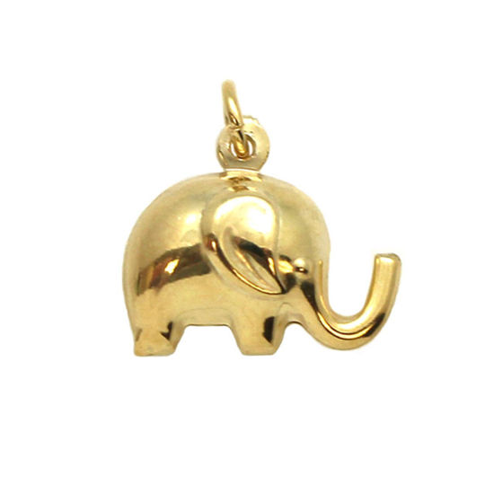 Wholesale Gold plated Sterling Silver Elephant Charm, Charms and Pendants for Jewelry Making, Wholesale Findings
