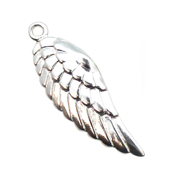 Wholesale Sterling Silver Wing Charm, Charms and Pendants for Jewelry Making, Wholesale Findings