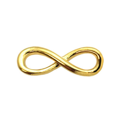 Wholesale Gold plated Sterling Silver Infinity Charm, Charms and Pendants for Jewelry Making, Wholesale Findings