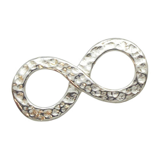 Wholesale Sterling Silver Hammered Infinity Charm, Charms and Pendants for Jewelry Making, Wholesale Findings