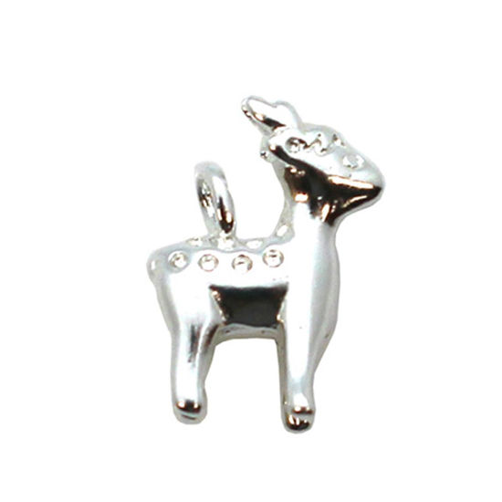 Wholesale Sterling Silver Reindeer Charm, Charms and Pendants for Jewelry Making, Wholesale Findings
