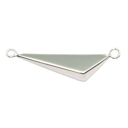 Wholesale Sterling Silver Triangle Pendant, Charms and Pendants for Jewelry Making, Wholesale Findings