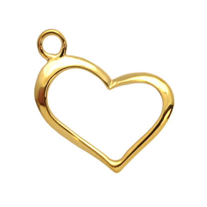 Wholesale Gold plated Sterling Silver Classic Heart Charm, Charms and Pendants for Jewelry Making, Wholesale Findings