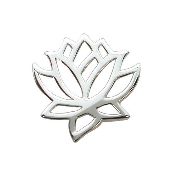 Wholesale Sterling Silver Lotus Flower Charm Pendant Connector (1 pc)