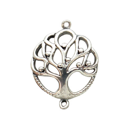 Wholesale Sterling Silver Tree of Life Connector Charm, Charms and Pendants for Jewelry Making, Wholesale Findings