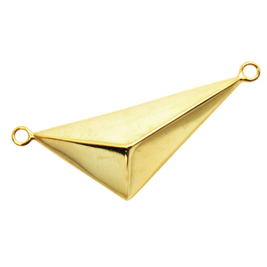 Wholesale Gold plated Sterling Silver Large Triangle Pendant, Charms and Pendants for Jewelry Making, Wholesale Findings