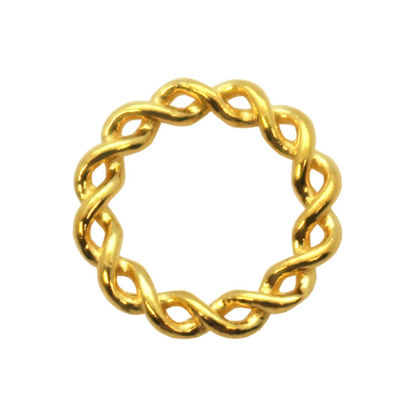 Wholesale Gold plated Sterling Silver Twisted Closed 11.5mm Connector Link, Charms and Pendants for Jewelry Making, Wholesale Findings