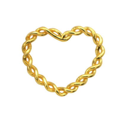 Wholesale Gold plated Sterling Silver Twisted Heart Connector Link, Charms and Pendants for Jewelry Making, Wholesale Findings