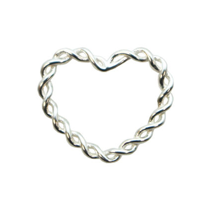 Wholesale Sterling Silver Twisted Heart Connector Link, Charms and Pendants for Jewelry Making, Wholesale Findings