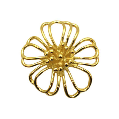 Wholesale Gold plated Sterling Silver Large Buttercup Flower Connector Pendant, Charms and Pendants for Jewelry Making, Wholesale Findings