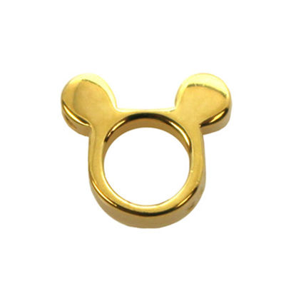 Wholesale Gold plated Sterling Silver Mouse Ears Charm, Charms and Pendants for Jewelry Making, Wholesale Findings