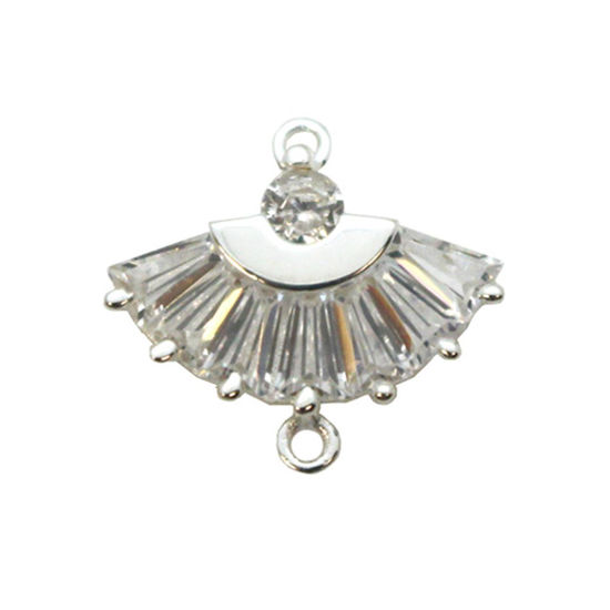Wholesale Sterling Silver Oriental Hand Fan Charm, Charms and Pendants for Jewelry Making, Wholesale Findings