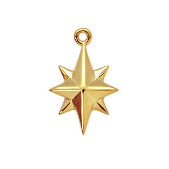 Wholesale Gold plated  Sterling Silver Northstar Charm,  Charms and Pendants for Jewelry Making, Wholesale Findings