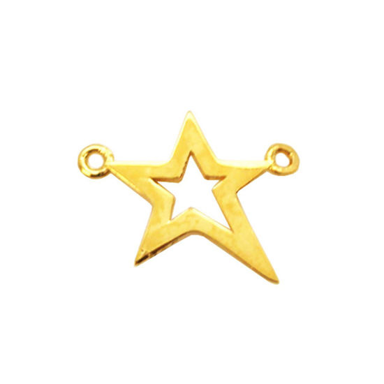 Wholesale Gold plated Sterling Silver Tiny Flat Star Connector, Charms and Pendants for Jewelry Making, Wholesale Findings