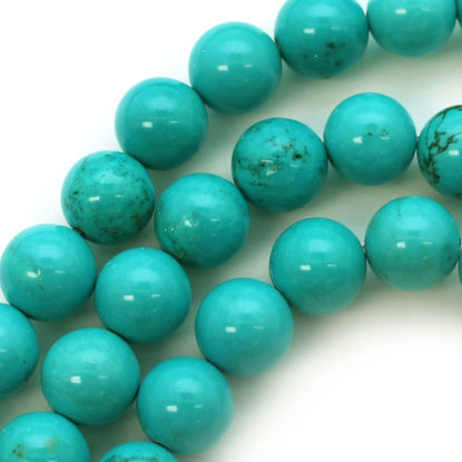 Wholesale Blue Howlite Beads - 10mm Round Shape (sold per strand)