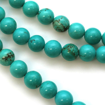 Wholesale Blue Howlite Beads - 8mm Round Shape (sold per strand)