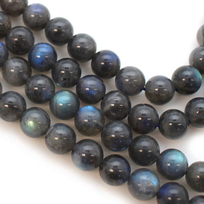 Wholesale Labradorite Beads - 8mm Round Smooth Shape (sold per strand)