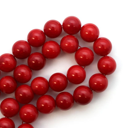 Wholesale Red Coral Beads - 8mm Smooth Round (Sold Per Strand)