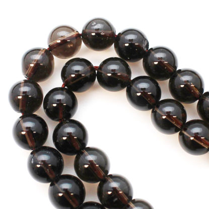 Wholesale Smoky Quartz Natural Stone - Smooth Round 8mm (sold per strand)
