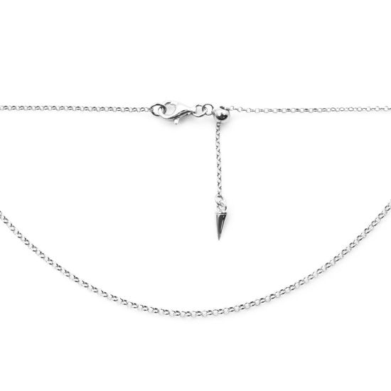 Wholesale 925 Sterling Silver Adjustable Finished Chain - 1mm Rolo Chain