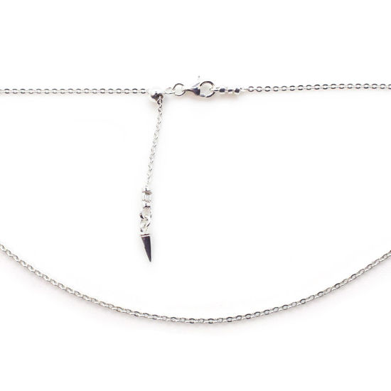 Wholesale 925 Italian Sterling Silver Adjustable Finished Chain - Solid Oval Cable Chain