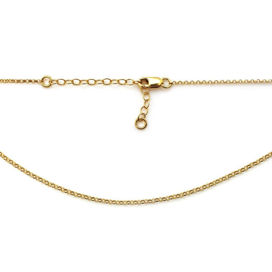 Wholesale bulk Chain for Jewelry Making Round Link Gold Filled Chain 14k Gold Filled Unfinished Chain by foot 2mm Rolo Gold Filled Chain