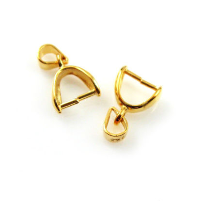 Wholesale Gold plated Sterling Silver Teardrop Pinch Bail Connector, Wholesale Findings
