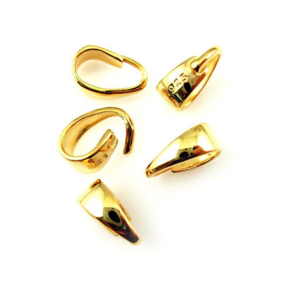 Wholesale Gold plated Sterling Silver Classic Smooth Bail Connector, Wholesale Findings