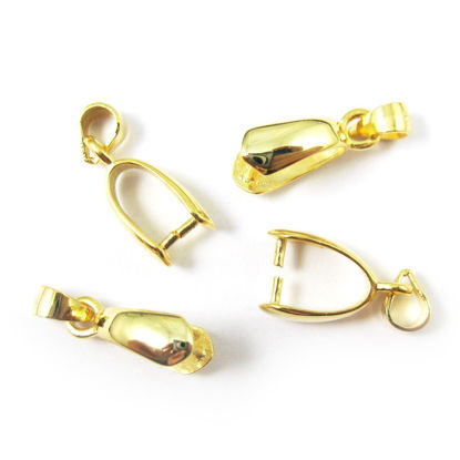 Wholesale Gold plated Sterling Silver Large Teardrop Pinch Bail Connector, Wholesale Findings