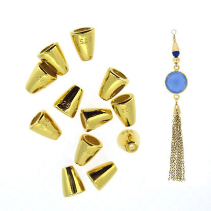 Wholesale Gold plated Sterling Silver Cone Bead Cap, Wholesale Findings
