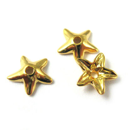 Wholesale Gold plated Sterling Silver Flower Bead Cap Spacer, Wholesale Findings