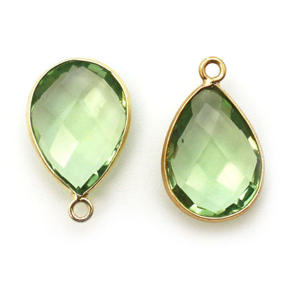 Wholesale Gold plated Sterling Silver Teardrop Bezel Gold Rutilated QuartzGemstone Pendant, Wholesale Gemstone Pendants for Jewelry Making