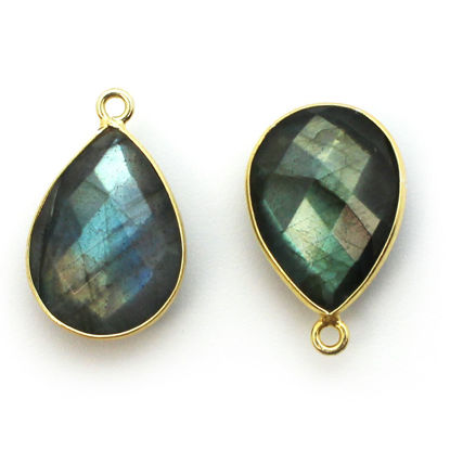 Wholesale Gold plated Sterling Silver Teardrop Bezel Labradorite Gemstone Pendant, Wholesale Gemstone Pendants for Jewelry Making