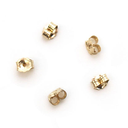 Wholesale 1/20 14K Gold Filled Butterfly Earring Post Backs Earnuts (5 pairs)
